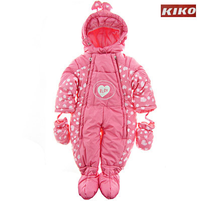 Детский зимний комбинезон-трансформер для девочки  KIKO 3050, наполнитель - пух, размеры 68-80