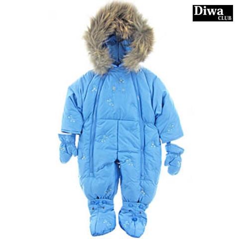 Детский зимний комбинезон-трансформер для мальчика на пуху DIWA CLUB  30107, 68-80