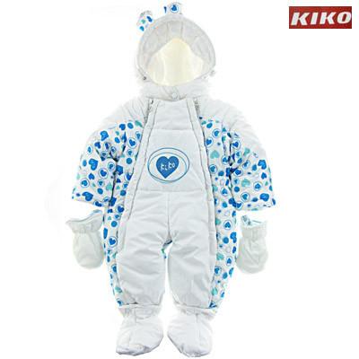 Дитячий зимовий комбінезон-трансформер для хлопчика KIKO на пуху 3050, 68-80