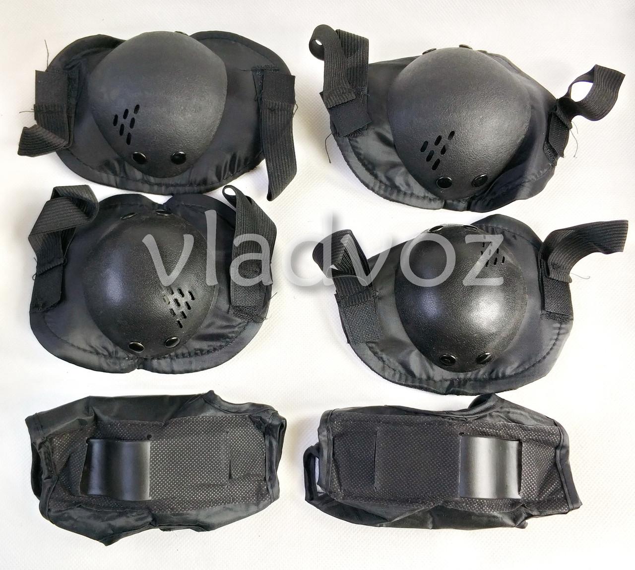 Детская защита комплект для роликов скейта велосипеда самоката экипировка защитная черная