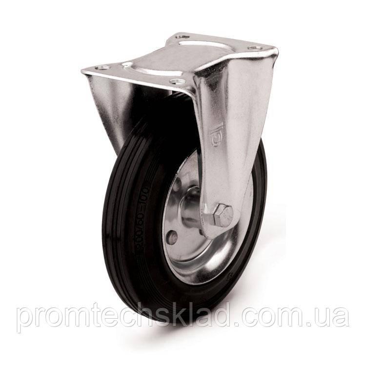 Колесо с неповоротным кронштейном 125 мм для тележек (Польша)