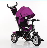 Велосипед трехколесный Turbo Trike M 3113A-18 фуксия на больших надувных колесах ***