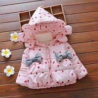 Демисезонная куртка для девочек 1-4 года, фото 1
