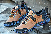 Кроссовки ботинки кожаные мужские columbia реплика Харьков коричневые кожа (Код: М87) Только 40р!