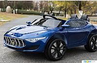 Детский электромобиль 8808 Maserati на резиновых EVA колёсах,синий  автопокраска ***