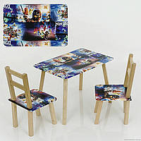 """Столик и два стульчика деревянные """"Ниндзяго"""" С 083 ***"""
