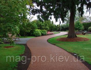 Бесшовные резиновые покрытия для уличных и садовых дорожек
