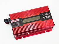 Инвертор преобразователь напряжения Power Inverter UKC KC-500D 500W с LCD дисплеем, фото 2