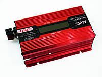 Инвертор преобразователь напряжения Power Inverter UKC KC-500D 500W с LCD дисплеем, фото 3