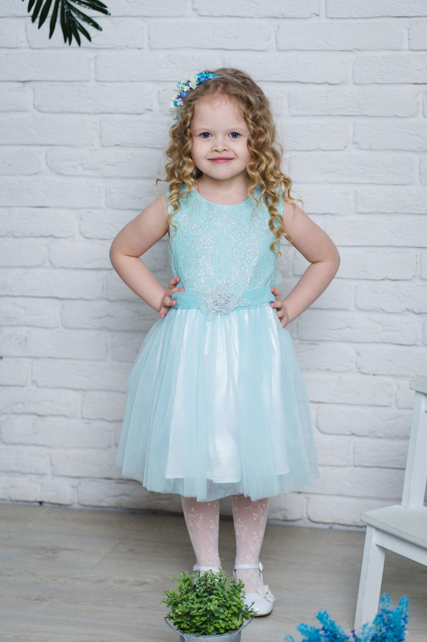 Детское нарядное платье  для девочки 7101, размеры 116-134