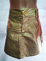 Модная детская юбка для девочки золотого цвета