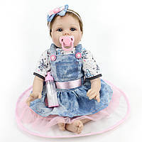 NPK 22inch Reborn Baby Кукла Lifelike Handmade Girl Куклаs Play House Toy