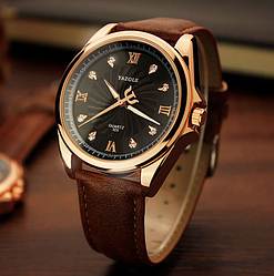 Мужские часы Yazole MW324-325 Brown Black