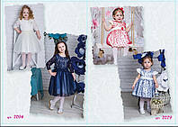 Детское нарядное платье  для девочки, обруч в комплекте 7079, размеры 92-116
