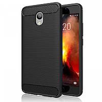 Защитный чехол iPaky Slim с карбоновыми вставками для Meizu M5 Note черный