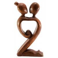 Статуэтка интерьерная из дерева Влюбленные