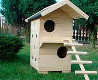 Домик для кошек из натурального дерева № 3,  Н900, 400*600
