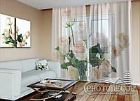 """ФотоТюль """"Букет белых роз"""" (2,5м*6,0м, на длину карниза 4,0м)"""