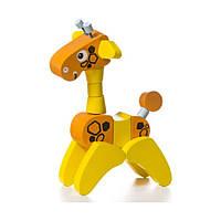 Деревянная игрушка Cubika Жираф Кубика Дергунчик, LA-7, 006345, фото 1