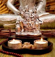 Настольный подсвечник «Шива Парвати Ганеш»