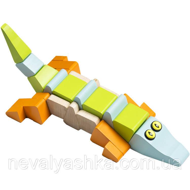 Деревянная игрушка Cubika Крокодил, LA-2, 003843