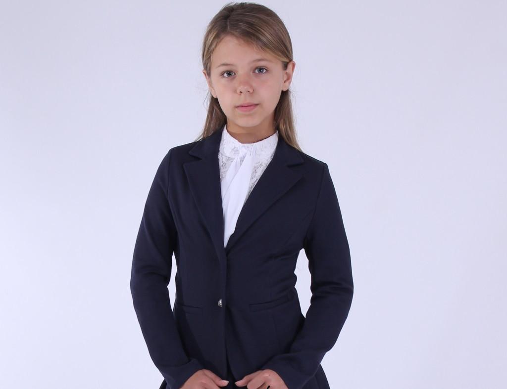 Детский трикотажный пиджак для девочки 78234, размер 134-164