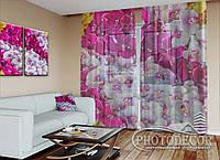 """ФотоТюль """"Ковер из орхидей"""" (2,5м*2,0м, на длину карниза 1,5м)"""
