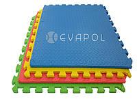 Мягкий пол пазл детский коврик КВАДРО 1 элемент 600*600*12 мм