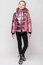 Детская демисезонная куртка для девочки серебро VKD-8, 122-152, фото 3