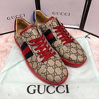 Стильная мужская обувь Gucci красные Турция Супер качество р.40-44 стелька 26,5-29см