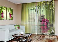 """ФотоТюль """"Листья бамбука"""" (2,5м*2,0м, на длину карниза 1,5м)"""