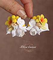 """Серьги с цветами из полимерной глины """"Аромат весны"""", фото 1"""