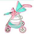 Детская коляска-трансформер для кукол 9662 (2 цвета), фото 4