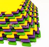 Мягкий пол  пазл детский коврик ТермоПол 1 элемент 480*480*10 мм
