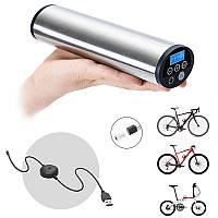 CYCPLUS 2 в 1 150PSI Ручной USB перезаряжаемые Автоматическая воздуха инфлятором для всех моделей велосипедов с Schrader/Presta LED ДАВЛЕНИЕ Аварийное