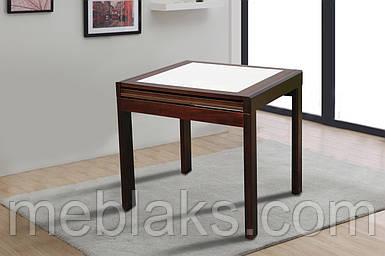 Стол деревянный раскладной «Милан» для кухни орех Модуль Люкс
