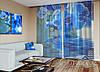 """ФотоТюль """"Синие орхидеи"""" (2,5м*3,75м, на длину карниза 2,5м)"""