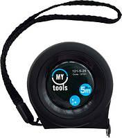 Рулетка измерительная MyTools Power Black edition, Автостоп 5м Х25мм ( 121-5-25 )