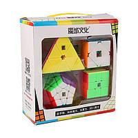 MoYu подарочный набор (пирамидка, мегаминкс, скьюб, скваер) (цветной)