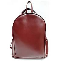 1013 Бордовый Рюкзак натуральная кожа