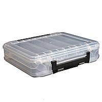 LEO Прозрачные двойными бортами прикормы коробка ПВХ 10 Кварталы чехол