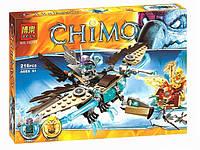 Конструктор Bela 10291 аналог LEGO Chima Ледяной Гриф - Планер Варди  216 деталей, фото 1