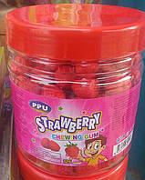 Bubble Gum Strawberry жвачки с клубничным вкусом 125 шт Турция