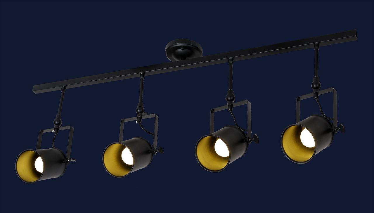 Потолочный трековый светильник LOFT L61SD04-4 BK