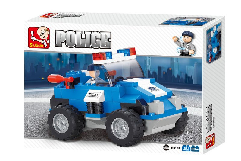 """Конструктор SLUBAN """"Полицейский автомобиль - Полицейский спецназ"""" 121 деталь арт. M38-B0183"""