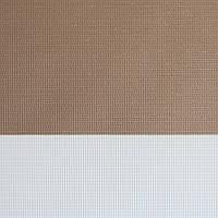 Рулонные шторы День-Ночь Ткань Каприз Z-163 Коричневый