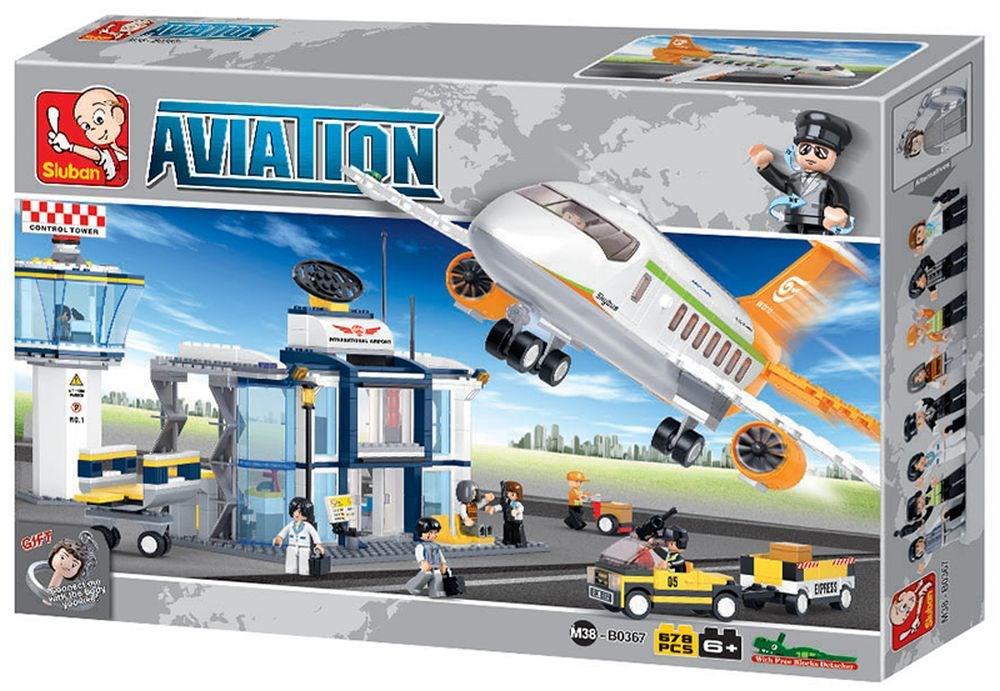 """Конструктор """"Аэропорт"""" 678 деталей SLUBAN M38-B0367"""