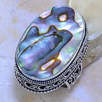 Красивое кольцо с перламутром. Кольцо с натуральным перламутром (халиотис) в серебре., фото 1