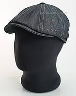 Кепка восьмиклинка из серого джинса
