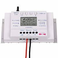 T40 40A MPPT солнечной контроллер заряда Регулятор 12V 24V Авто ЖК-дисплей контроллера с нагрузкой Dual Control Timer